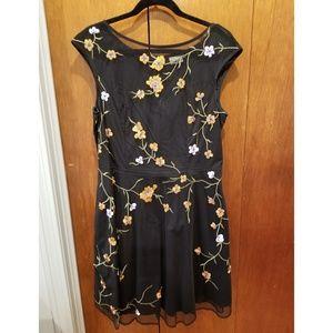 Eshakti black and orange floral dress